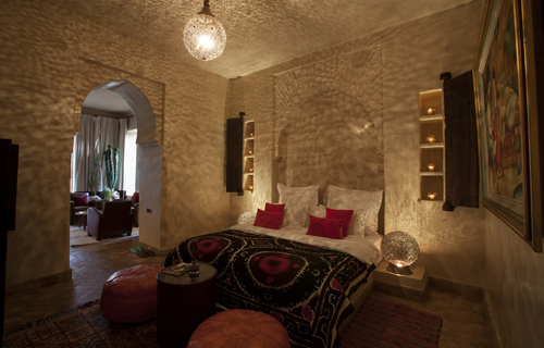 Location villa luxe à Marrakech : Photo de la suite de luxe chems