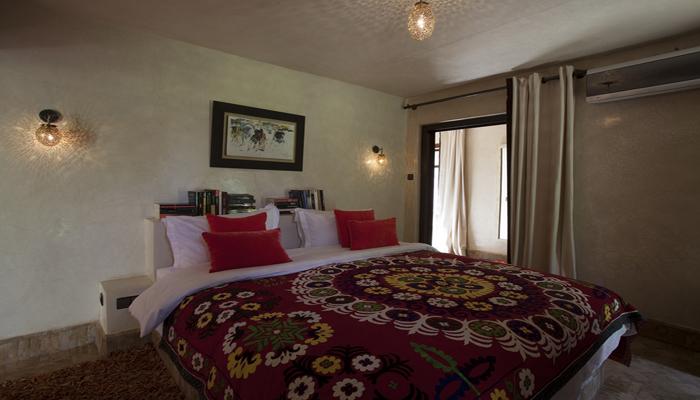 vue intérieur chambre musc en location à Marrakech
