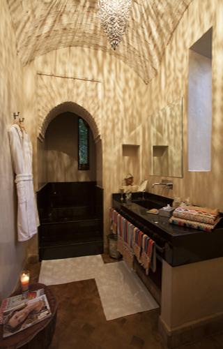 Photo intéreiure salle de bian villa luxe à Marrakech